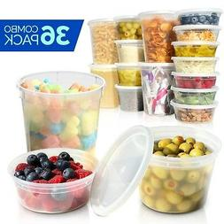 Deli Containers with Lids - Food Storage Containers - Clear