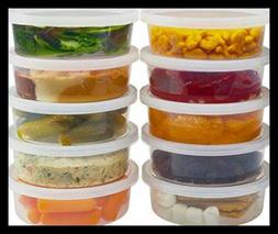 DuraHome - Deli Containers with Lids 8 oz. Leakproof - 40 Pa