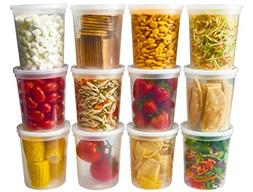 DuraHome - Deli Food Storage Containers With Lids 32 Ounce,