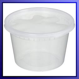 Deli Food Storage Containers W/Lids 16 Ounce 50 Count Dispos