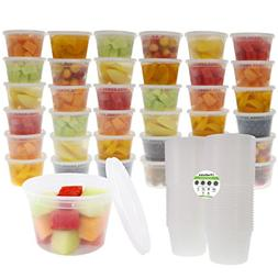Deli Food Storage Containers with Lids 16 Ounce 50-Count Dis