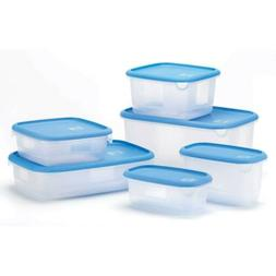 Deluxe Food Storage 12 Piece Set Plastic Microwavable Contai