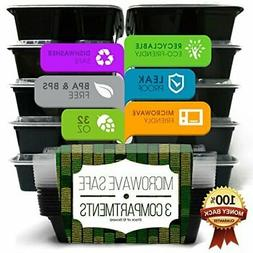 Disposable Lunch Box Bento Food Storage Container - 3 Compar