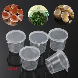 Disposable Plastic Takeaway Food Containers Sauce Cup Palett