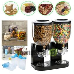 double cereal dispenser dry food storage container