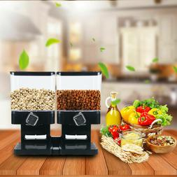 Dual Control Dry Food Cereal Dispenser Dry Food Container St