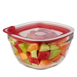Rubbermaid Easy Find Lid Glass Food Storage Container, 11-1/