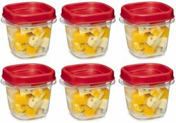 Rubbermaid Easy Find Lid Square 1/2-Cup Food Storage Contain