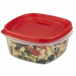 Rubbermaid 071691405320 Food, 6-Pack, Red