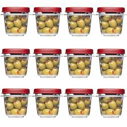 Rubbermaid Easy Find Lids Square 1/2-cup Food Storage Contai