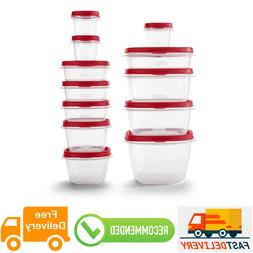 Easy Find Vented Lids Food Storage Containers Organizer, 24-