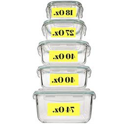 Extra Large & Assorted sizes Glass Food Storage Containers w