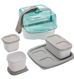 Rubbermaid Fasten + Go Sandwich Kit, Sea Foam Green, 4-Piece