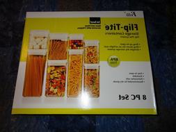 Felli Flip-Tite System 8 Pc Vacuum Airtight Food Storage Sta