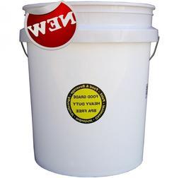 FOOD GRADE COMMERCIAL PLASTIC BUCKET 5 GALLON Durable all Pu