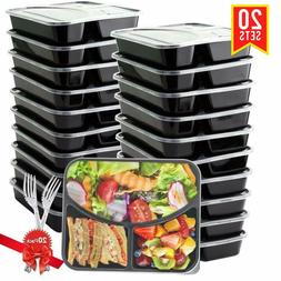 Food Prep Containers Stackable -Microwave/Dishwasher/Freezer