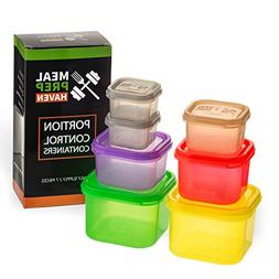 Meal Prep Haven Food Savers Storage Containers 7 Piece Multi