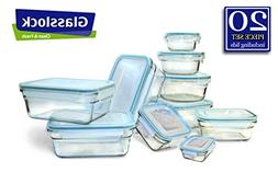 Food Savers Storage Containers GlassLock Snaplock Lid Temper