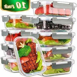 Food Storage & Organization Sets 10 Pack, 22 OzGlass Meal Pr