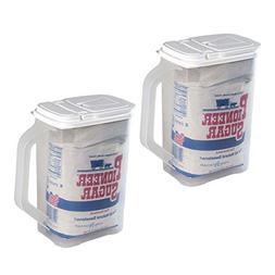 2 Pack Food Storage Container 4 Qt Flour Sugar Keeper Pour n