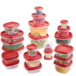 Food Storage Container  Red, Snap Lids Square Meals Organiza