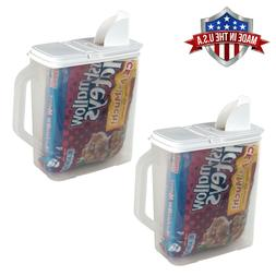 2 Pack Food Storage Container 6 Qt Flour Sugar Keeper Pour n