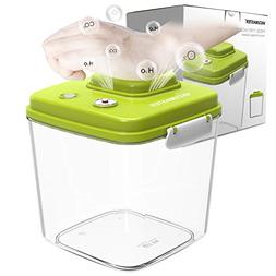 Food Storage Container with Vacuum Sealed Airtight Lid - Vac