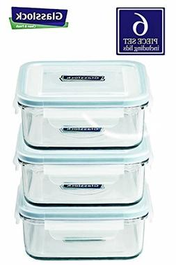 Glasslock Food-Storage Container with Locking Lids and Micro
