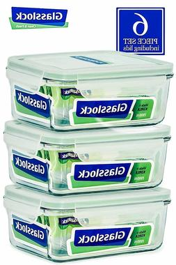 Glasslock Food-Storage Container Airtight Lids Microwave Saf