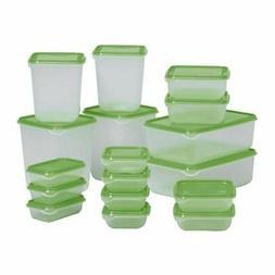 Food Storage Container Box Set Plastic Lids Microwave Freeze
