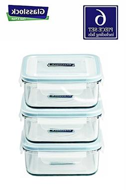 Glasslock Food-Storage Container with Locking Lids, Oven and
