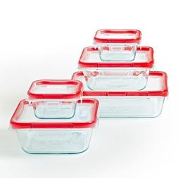 Pyrex 10pc Food Storage Container Set Clear