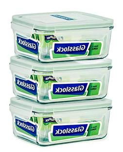 Glasslock Food-Storage Container with Locking Lids Microwave
