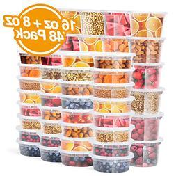 Glotoch Food Storage Containers with Lids 8oz, 16oz Freezer