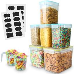 Food Storage Containers, VERONES LARGE SIZE Airtight Sugar,