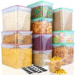 Food Storage Containers Cereal Container - VERONES 10 Piece
