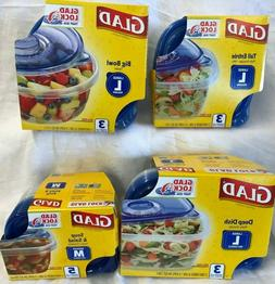 Glad Food Storage Containers Four Sizes Free Shipping