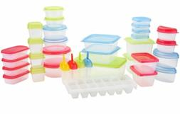 66-pc Food Storage Containers Lock Tight Lids Microwave, Fre