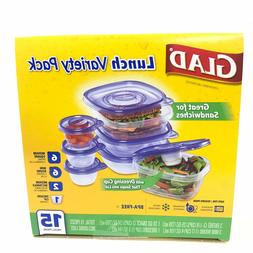 food storage containers lunch variety pack 15