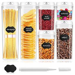 BAYKA Food Storage Containers with Lids, 6 Pieces Set Airtig