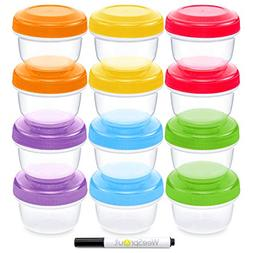 WeeSprout Baby Food Storage Containers | Set of 12 Small Reu