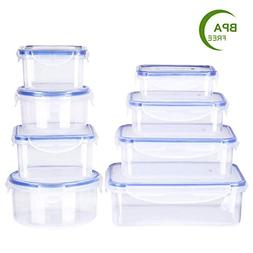 Deik Food Storage Containers, BPA-Free Plastic Food Containe