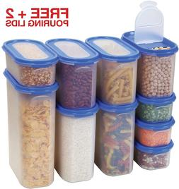 Food Storage Containers Set Airtight Dry Food Container with
