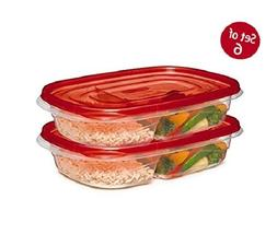 Food Storage Containers Set Divided Plates With Lids 6 Pcs M
