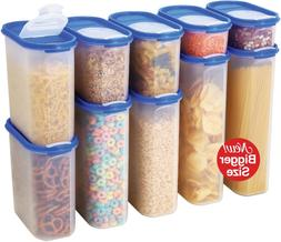 Food Storage Containers Set -STACKO- 20 PC. SET - Airtight D