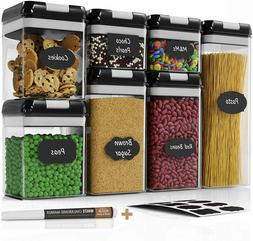 Food Storage Containers Set with Lid Air Tight Kitchen Pantr