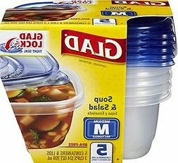 Food Storage Containers Soup and Salad 24 Ounce 5 Count Pack