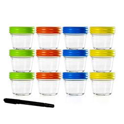 Food Storage Containers-Baby Food Storage-Glass Jars with Le