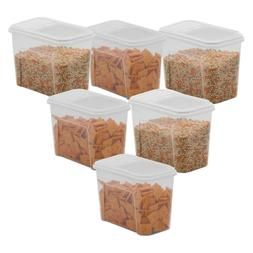 6 Pack Food Storage Dispenser Plastic Container 7.5 Cup Past