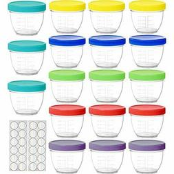 18 Pack Baby Food Storage, 4 oz Baby Food Containers with Li